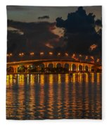 Pre-dawn Causeway View Fleece Blanket