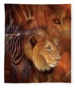 Predator And Prey Fleece Blanket
