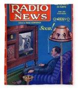 Predicting Television At Home, Radio Fleece Blanket