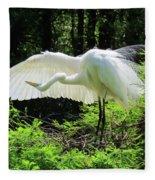 Preening The Wings Fleece Blanket