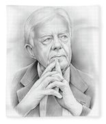 President Carter Fleece Blanket