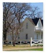 President Dewight Eisenhower Birthplace Fleece Blanket