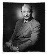President Dwight Eisenhower - Three Fleece Blanket