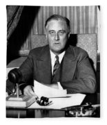 President Franklin Roosevelt Fleece Blanket
