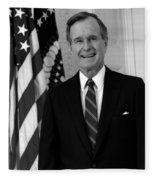 President George Bush Sr Fleece Blanket