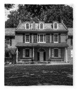 President James Buchanan's Wheatland In Black And White Fleece Blanket