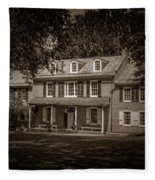 President James Buchanan's Wheatland In Sepia Fleece Blanket