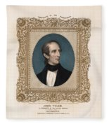 President John Tyler - Vintage Color Portrait Fleece Blanket