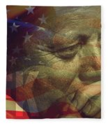 President Kennedy - Digital Art Fleece Blanket