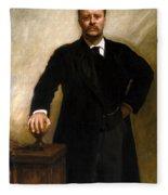 President Theodore Roosevelt Painting Fleece Blanket