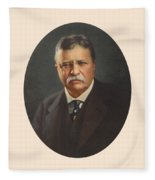 President Theodore Roosevelt - Rough Rider, Governor And President Fleece Blanket