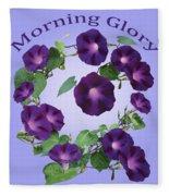 President Tyler Morning Glory Fleece Blanket