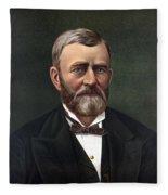 President Ulysses Grant Fleece Blanket