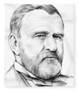 President Ulysses S Grant Fleece Blanket