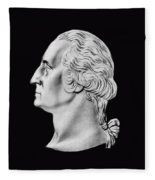 President Washington Bust  Fleece Blanket
