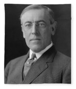 President Woodrow Wilson Fleece Blanket