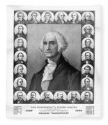 Presidents Of The United States 1789-1889 Fleece Blanket