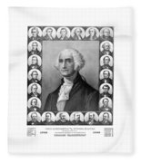 Presidents Of The United States 1789-1889 Fleece Blanket