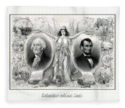 Presidents Washington And Lincoln Fleece Blanket