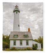 Presque Isle Lighthouse  - Lake Huron, Lower Peninsula, Mi Fleece Blanket