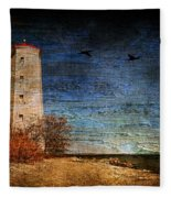 Presquile Lighthouse Fleece Blanket