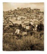 Pretoro - Landscape In Sepia Tones  Fleece Blanket