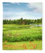 Pretty Countryside Fleece Blanket
