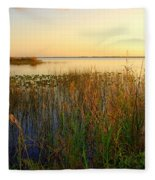 Pretty Evening At The Lake Fleece Blanket