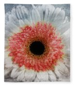 Pretty Gerbera Macro Fleece Blanket