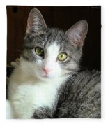 Pretty Girl Kitty Fleece Blanket