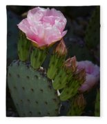 Pretty In Pink Prickly Pear  Fleece Blanket