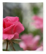 Pretty In Pink Rose Fleece Blanket