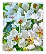 Pretty In White Fleece Blanket