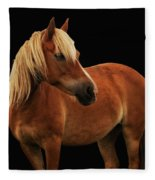 Pretty Palomino Pony Fleece Blanket