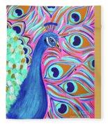Pretty Peacock Fleece Blanket