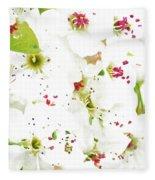 Pretty Pear Petals Fleece Blanket