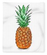 Pretty Pineapple II Fleece Blanket