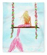 Pretty Pink Swing Fleece Blanket