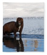 Pretty Reflecting Mink Fleece Blanket
