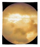 Pretty Storm Clouds With Sun Shine Fleece Blanket