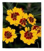 Pretty Yellow Flowers Fleece Blanket