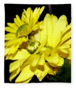 Pretty Yellow Flowers Fleece Blanket