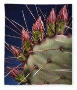 Prickly Buds Fleece Blanket