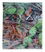 Prickly Pear Cactus Fleece Blanket