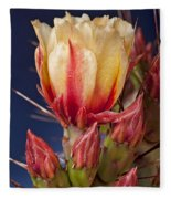Prickly Pear Flower Fleece Blanket