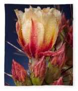 Prickly Pear Flower Wet Fleece Blanket