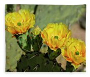Prickly Pear Flowers H42 Fleece Blanket