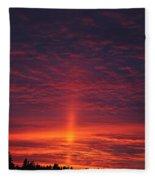 Pride Of The Prairie Sunset Fleece Blanket