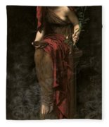 Priestess Of Delphi Fleece Blanket