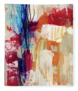 Primary 2- Abstract Art By Linda Woods Fleece Blanket